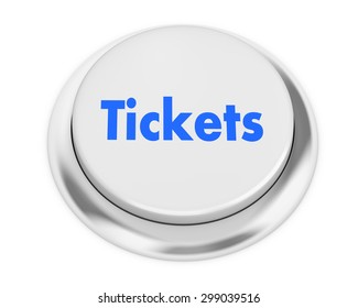 Text tickets button 3d render
