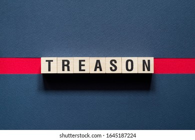 Text Treason concept on cubes