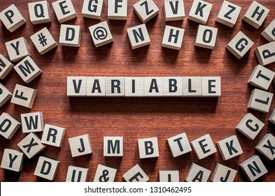 text of VARIABLE on cubes