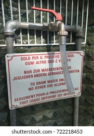 Text: Water only to drinking