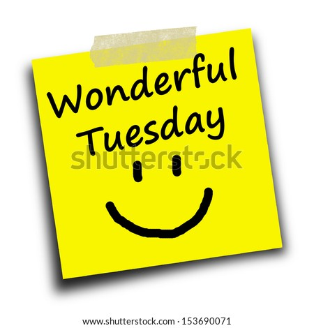 Text Wonderful Tuesday On Yellow Short Stock Photo Edit Now