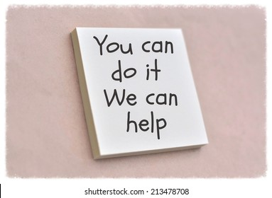 Text you can do it we can help on the short note texture background