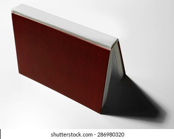 Textbook on white background
