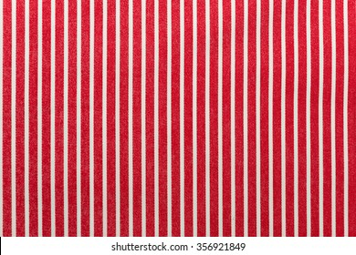 Textile background with red and white stripes