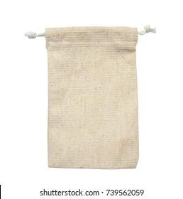 Textile - bag sack isolated on white background
