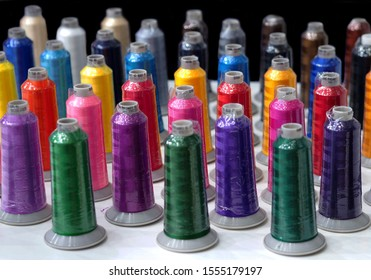 Textile colorful threads industry .