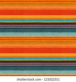 Textile Detail Seamless Background with Mexican Color (texture pattern for continuous replicate)