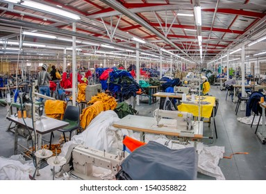 Textile factory in Africa Botswana, industrialization trying to eradicate poverty