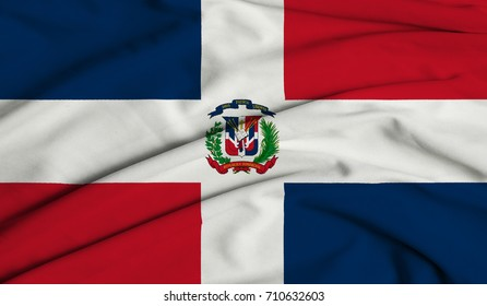 Textile Flag of The Dominican Republic