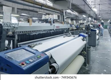 Imágenes, fotos de stock y vectores sobre Textile Industry Machine
