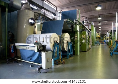 Textile industry (denim) - Department finishing