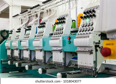 Textile industry factory in Gaborone , Botswana, Africa, industrial embroidery machines,