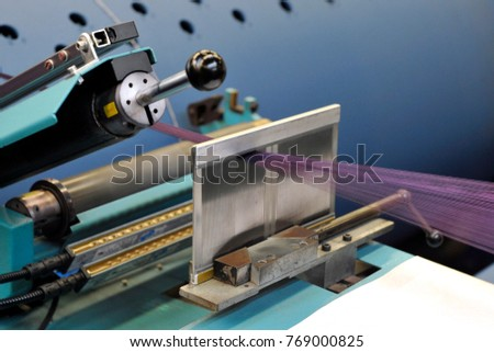 Textile Industry Knitting Machines Factory Italian Stock