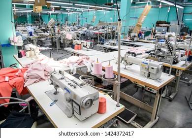 Textile manufacturing factory in Rivne, Ukraine. 13-06-2019