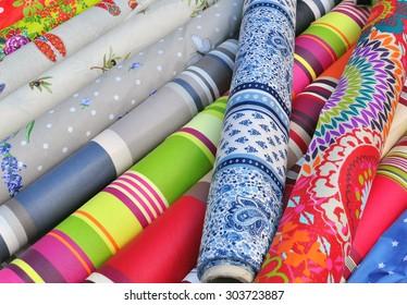 Textile market stall