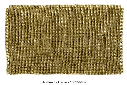 Textile Patch Isolated On White Background. Ready for your message.