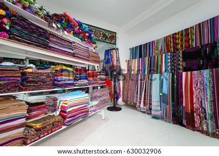 b9b3800f222 Textile Shop Indian Clothing Sari Traditional Stock Photo (Edit Now ...