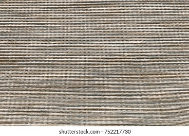 Textile Texture, Close Up of Brown and White Fabric Pattern Background with Copy Space for Text Decorated.