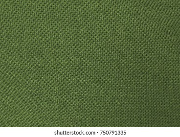 Textile Texture, Close Up of Green Olive Sack or Burlap Fabric Pattern Background.