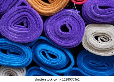 Textile-Felt-Wool. Textile Industry.  Abstrack Background.