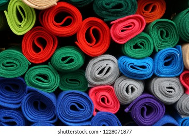 Textile-Felt-Wool. Textile Industry. Colorful Abstrack Background.