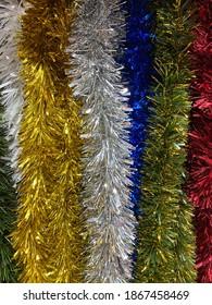 Textura de guirnaldas navideñas con brillo - Shutterstock ID 1867458469