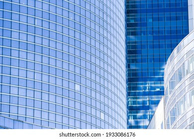 Textura of modern buildings, glazed financial and residential surfaces.