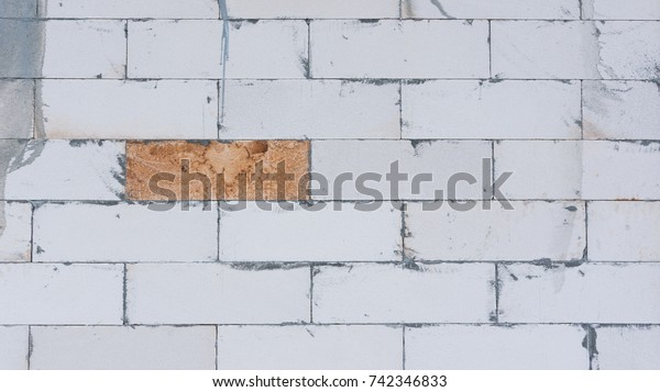 Texture Aac Brick Wall Autoclaved Aerated Stock Photo (Edit