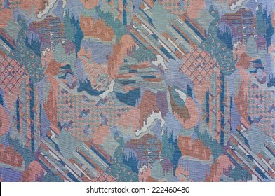 Texture abstract patterned upholstery fabric of dark purple tones