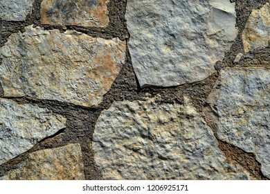 texture of an abstract stone mosaic close up for a background or for wallpaper for a wall or for a floor