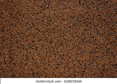 Texture acrylic mosaic plaster. Granular surface background with small colored stones