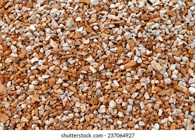 Texture of aggregate gravel for construction industry