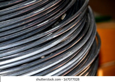 Texture of aluminum wire in a coil