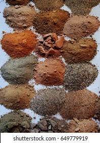 Texture, Arid Soil Types Samples