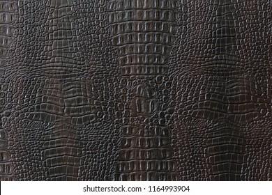Texture of artificial crocodile skin.