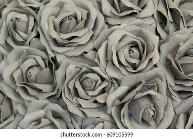 Texture of Artificial Rose Made from Mulberry Paper for Background.