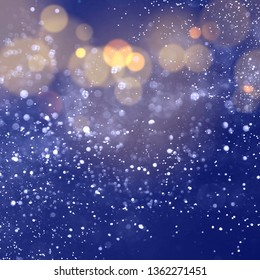 Texture background abstract black and white or silver Glitter and elegant for Christmas. Dust white. Sparkling magical dust particles. Magic concept. Abstract background with bokeh effect.