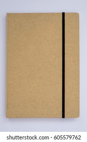 Texture or background of brown notebook cover.
