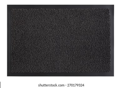 Texture background of the doormat with clipping path