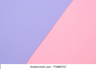 texture background of fashionable pastel color with top view, minimal concept, flat lay: pink and purple