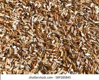Texture background of fine wood chips.