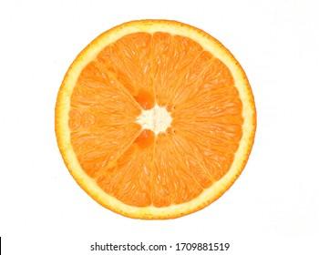 Texture background of fresh orange fruit cut in half