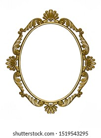 Texture, background with gilded bronze frame