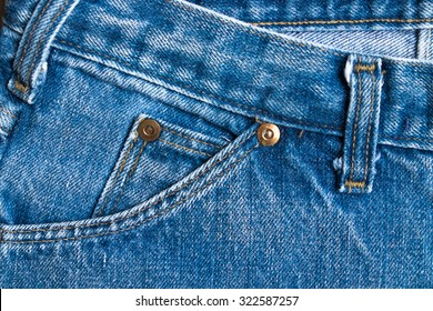 Texture background of jeans , Pocket detail