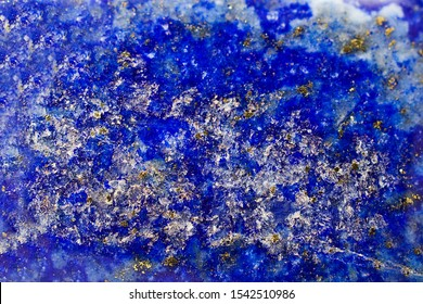 Texture and background of a lapis lazuli stone