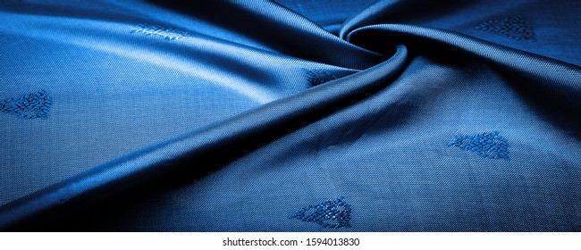 texture, background, pattern, pattern, chocolate, silk fabric, deep blue, glaucous, cerulean, small pattern, drawing, which is a combination of lines, colors, shadows.