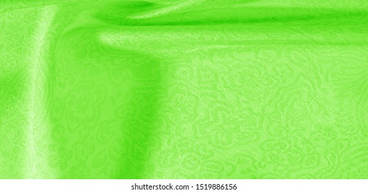 Texture background pattern fabric floral ornament green. This collection of cotton print is distinguished by bright colors and cute themes. Ideal for any projects, design and online decor items.