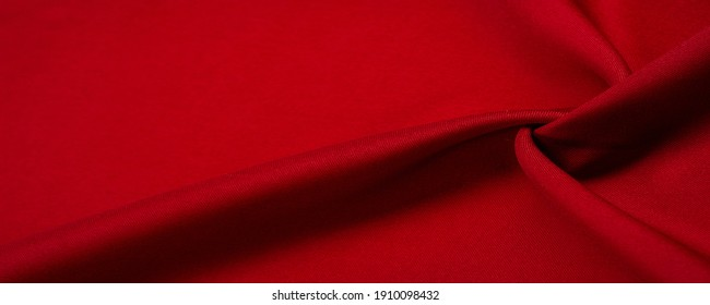 Texture, background, pattern, red silk fabric, this is silk satin weaving. Differs in density, smoothness and gloss of the front side, softness, it is well draped. Use design, projects