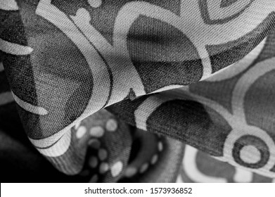 texture, background, pattern, wallpaper. Black white silk fabric pattern. This medium-weight rayon fabric has a nice shine with slight color variations. Perfect for adding elegance to your designs.