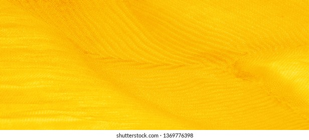 Texture, background, pattern, yellow silk corrugation crushed fabric for your projects